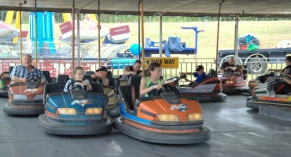 The classic bumper cars are fun for the whole family.