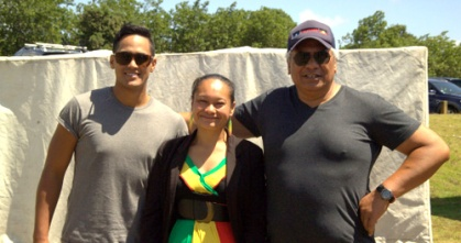 Thomas Rapana, Rita Marsh, Rob Hita. MC's of the celebrations.