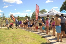 The line for the water slide.